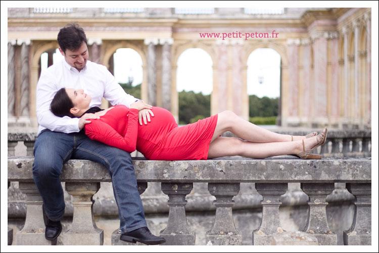 Shooting photo femme enceinte à Versailles