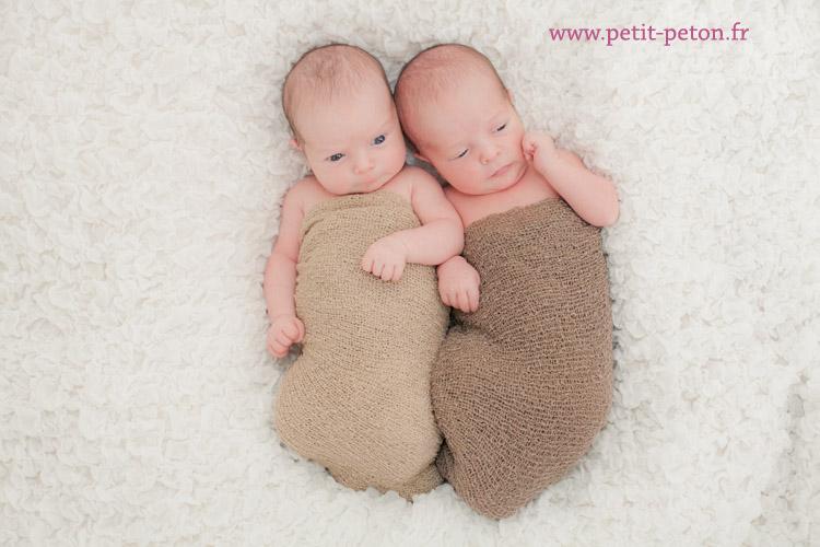 Séance photo bébé jumeaux