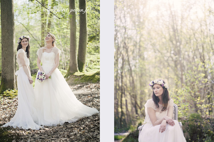 shooting inspiration mariage forêt