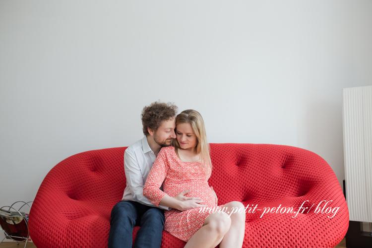 Photographe grossesse Paris à domicile
