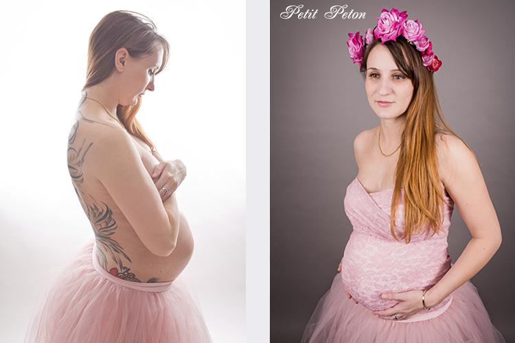 Photographe Paris studio femme enceinte