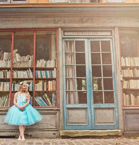 séance photo de princesse pour petite fille