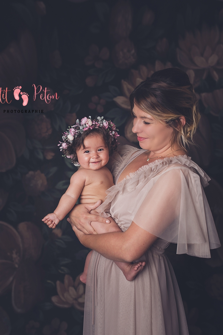 maman et bébé studio photo