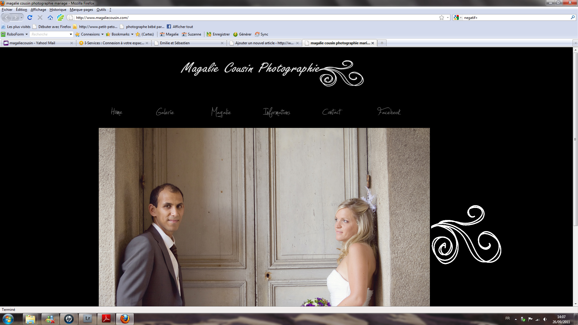 Mon nouveau site mariage