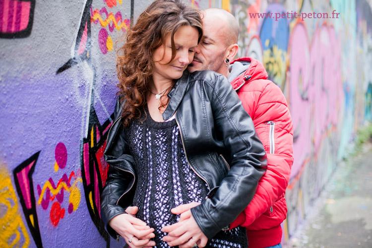 Photographe grossesse Paris avec Alexandra et Laurent