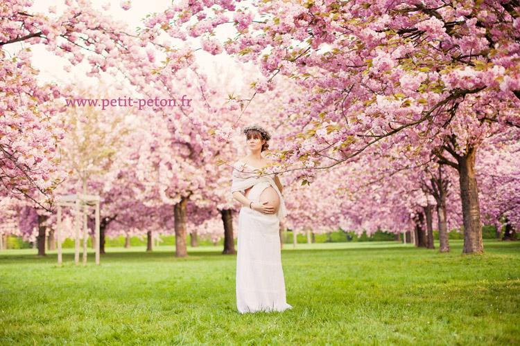 S ance photo maternit paris - Parc de sceaux cerisiers en fleurs 2017 ...