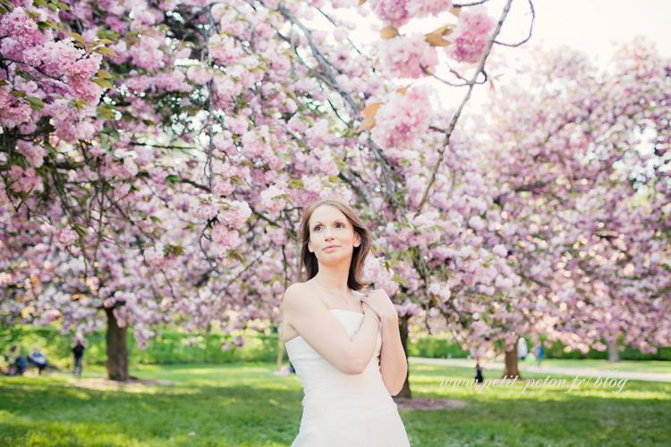Séance photo mariée Hauts de Seine : Isabelle au parc de Sceaux