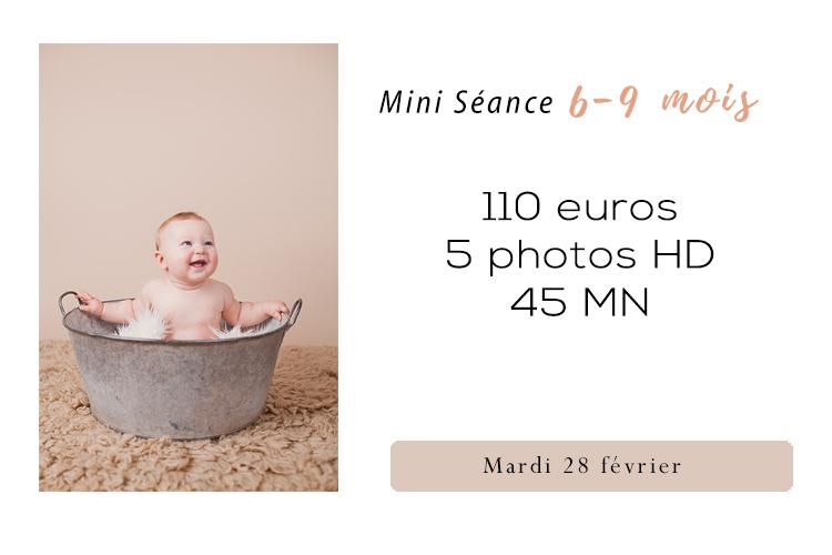 Photographe studio bébé 6-9 mois Paris – Home studio Cachan