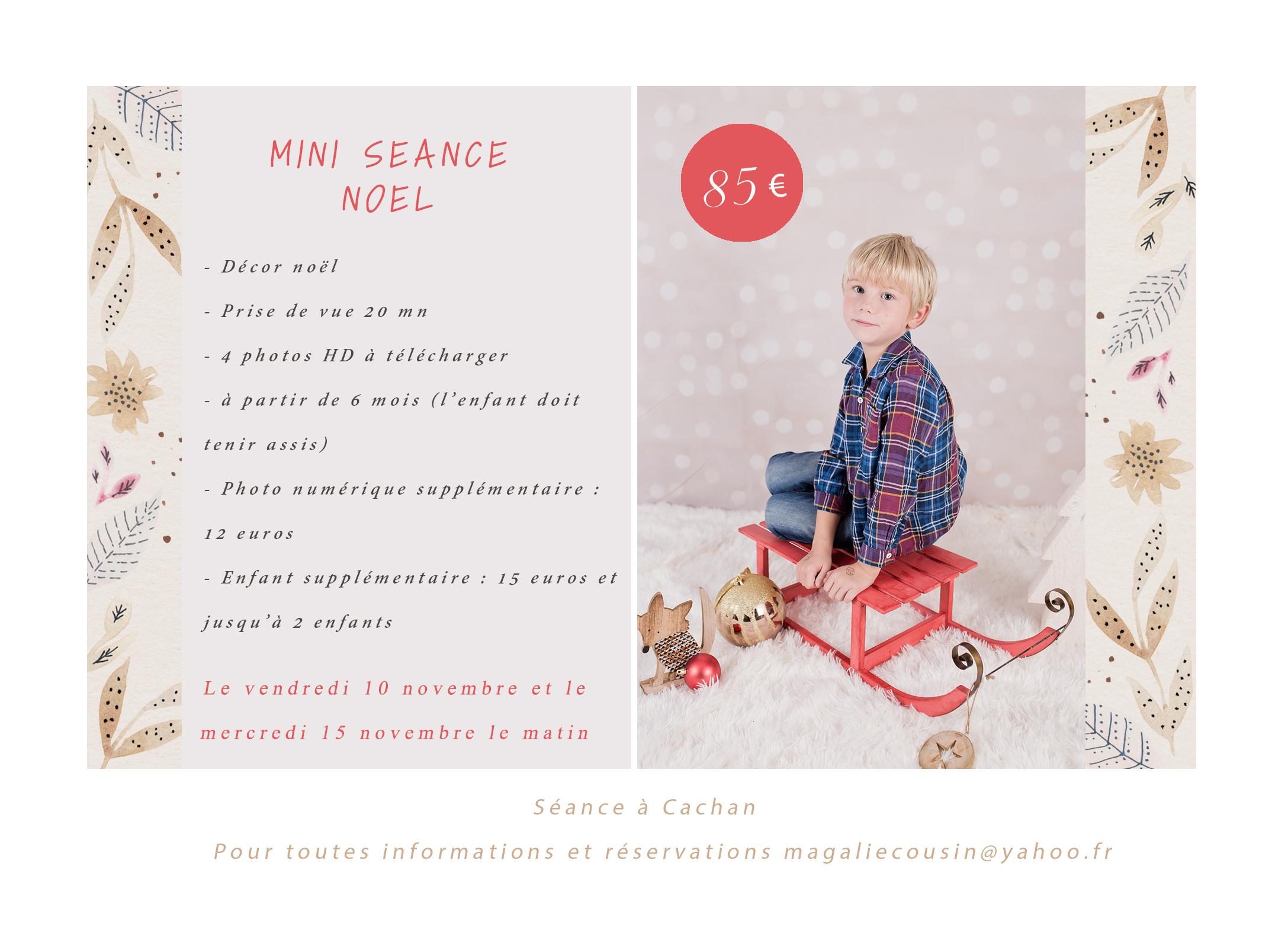 Mini séance photo Noël Cachan – Photographe enfant 94